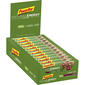 PowerBar Natural Energy Fruit Riegel Box Cranberry 24 x 40g